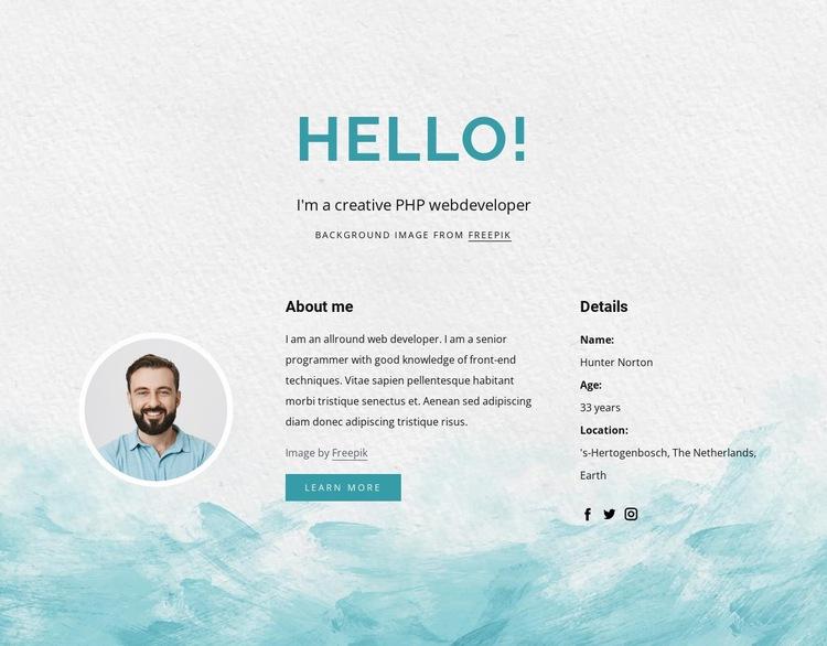 I am php developer Web Page Designer