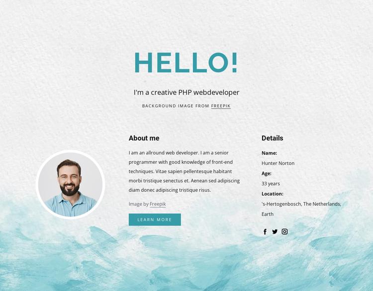 I am php developer Website Builder Software