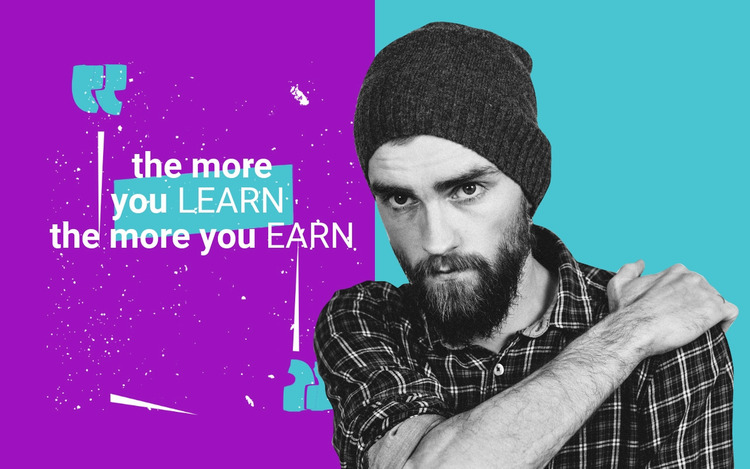 The more you learn Website Mockup