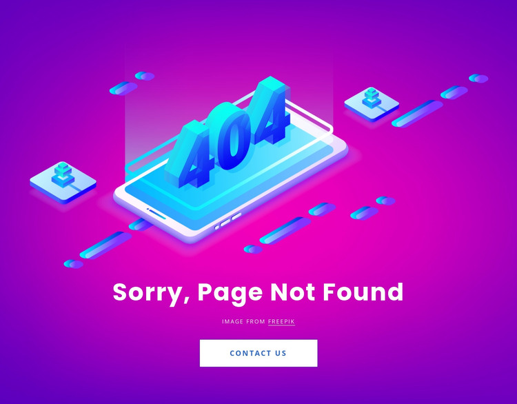 Page not found HTML Template