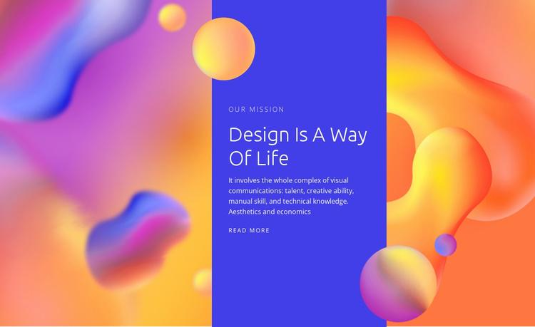 We create digital experiences Website Template