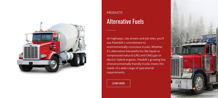 Alternative fuels  Website Builder Software