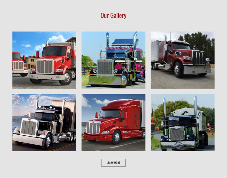 Cars gallery  HTML Template