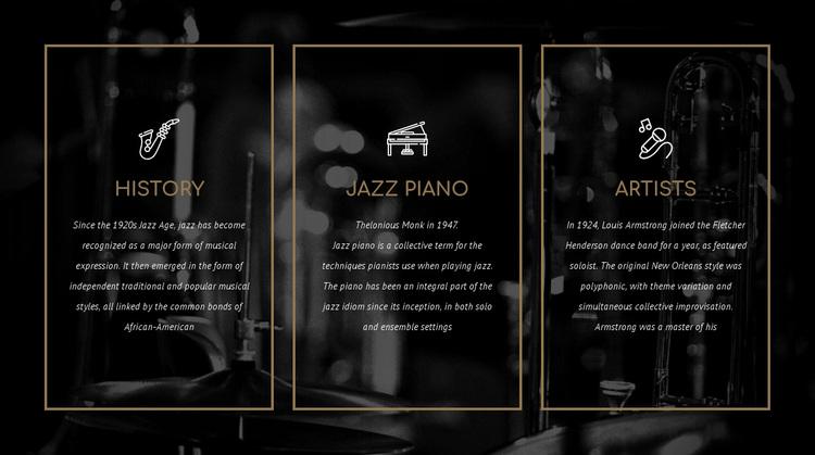 The history of jazz Website Design