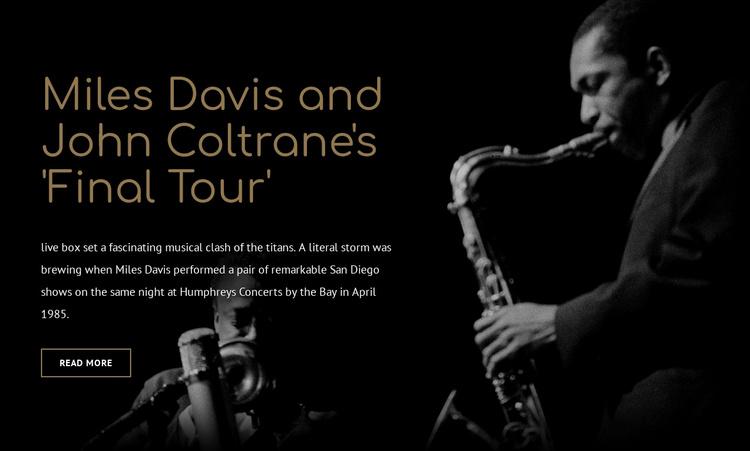 Mile Davis final tour Website Template