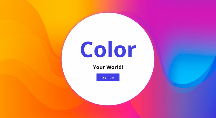 Color your world  Website Template