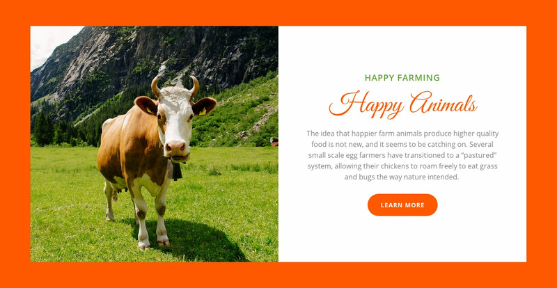 Animals farming Web Page Designer