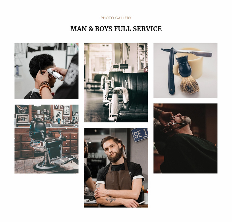 Man full service  Website Template