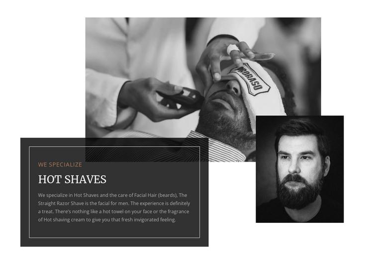 Hot shaves  WordPress Theme