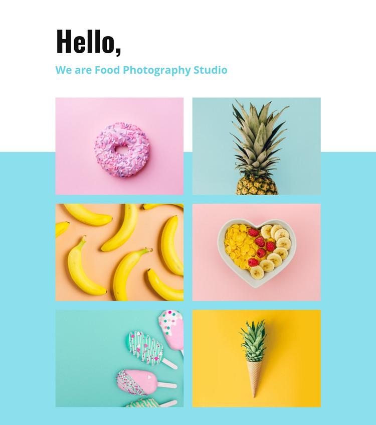 Food photography studio  Homepage Design