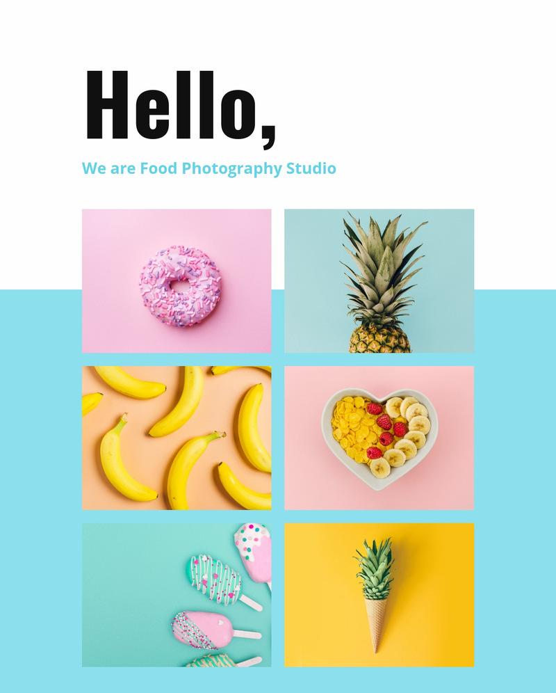 Food photography studio  Web Page Designer