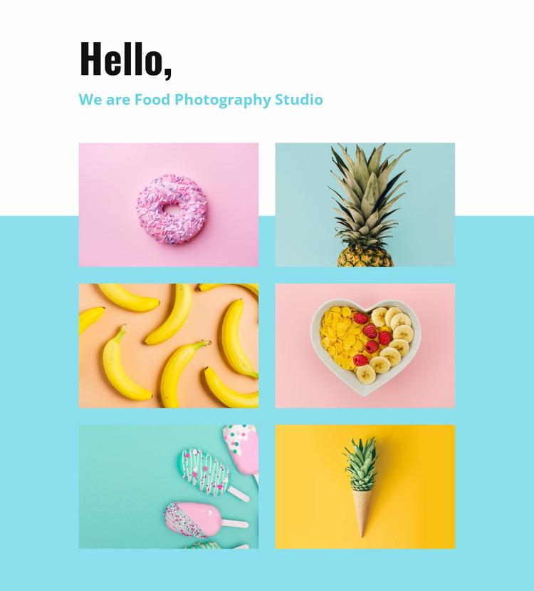 Food photography studio  Website Mockup