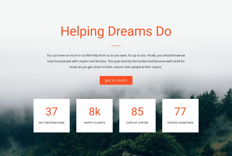 Counter Helping Dreams Do Html Website Builder