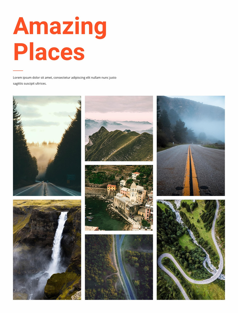 Amazing places Web Page Designer