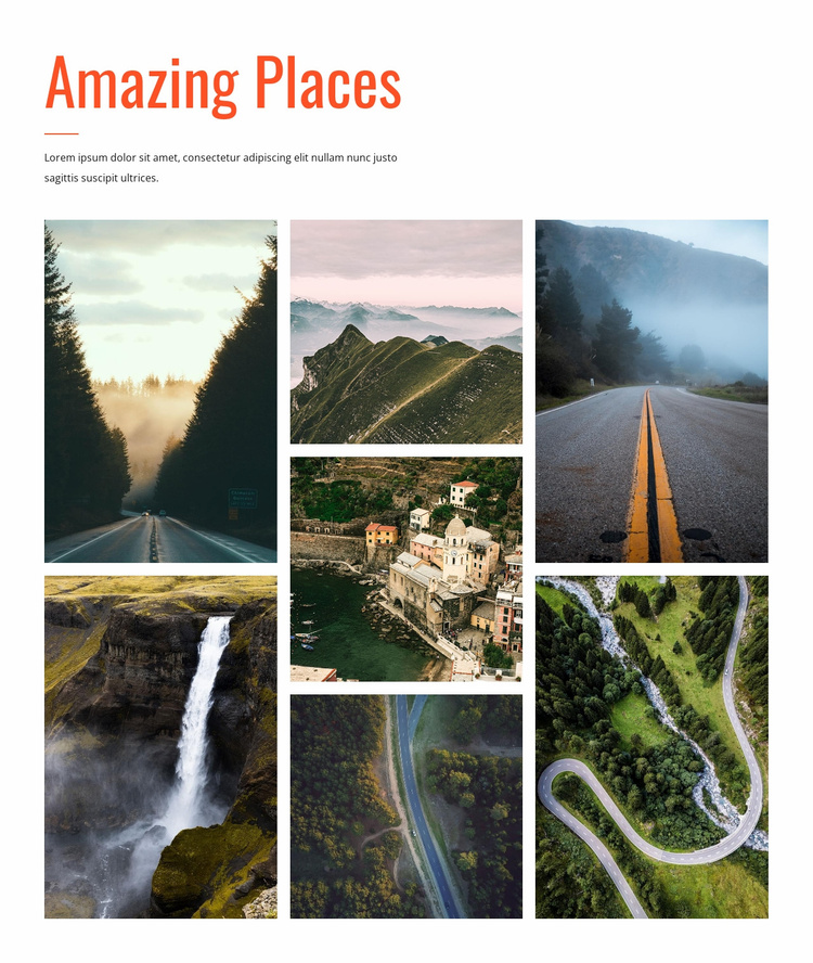 Amazing places Website Template