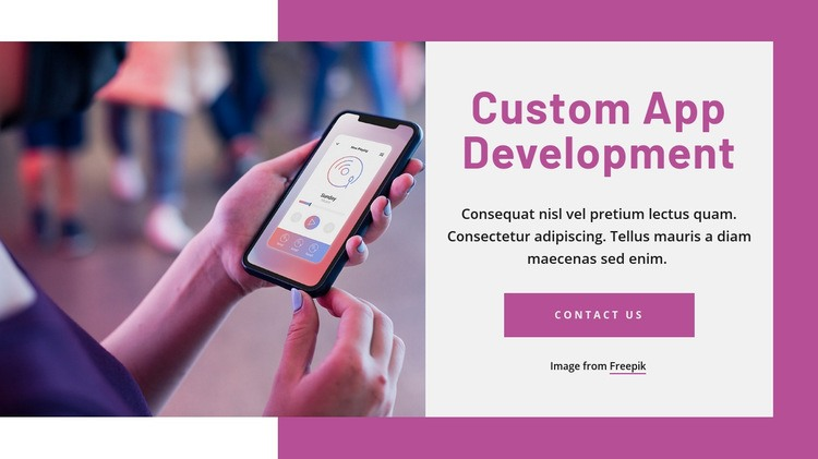 Custom app development Html Code Example