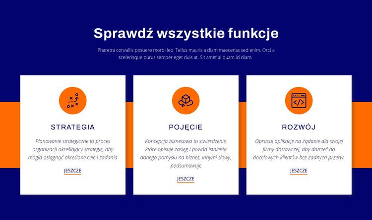 Sprawdź wszystkie funkcje Szablon witryny sieci Web