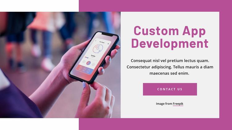 Custom app development Website Template