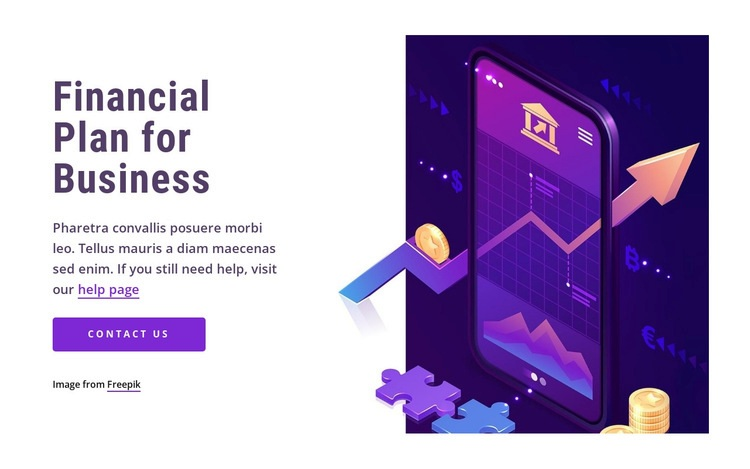 Financial plan for business Web Page Designer