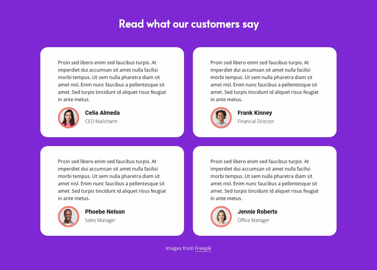 Read what our customers say Website Mockup