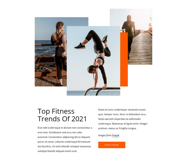 Top fitness trends HTML Template