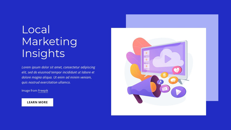 Local marketing insights HTML Template