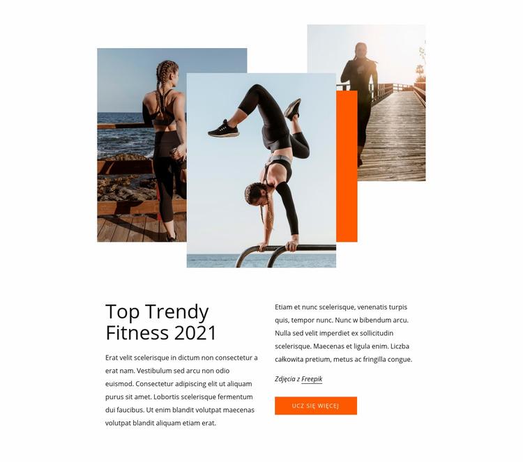 Najlepsze trendy fitness Szablon Joomla
