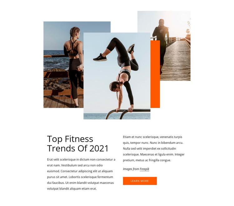 Top fitness trends Web Design