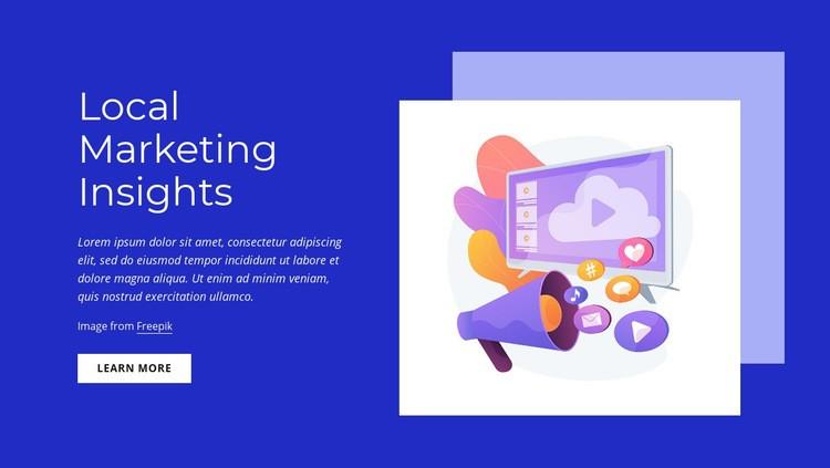 Local marketing insights Web Page Design