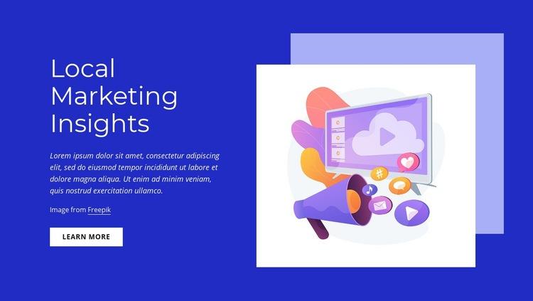 Local marketing insights Web Page Designer