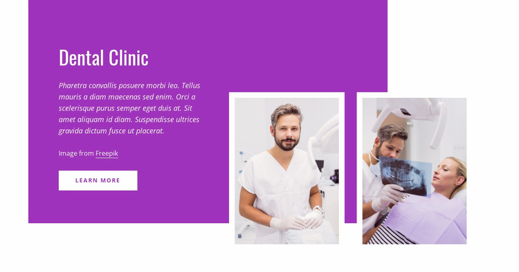 5-Star rated dental office Website Template