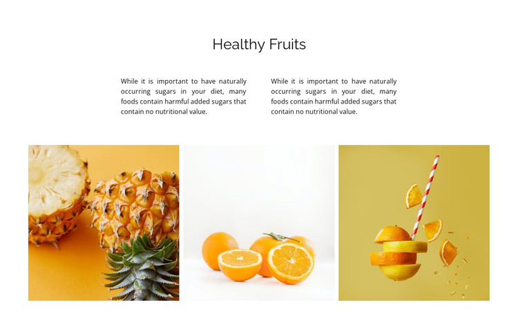 Gallery with natural food HTML Template