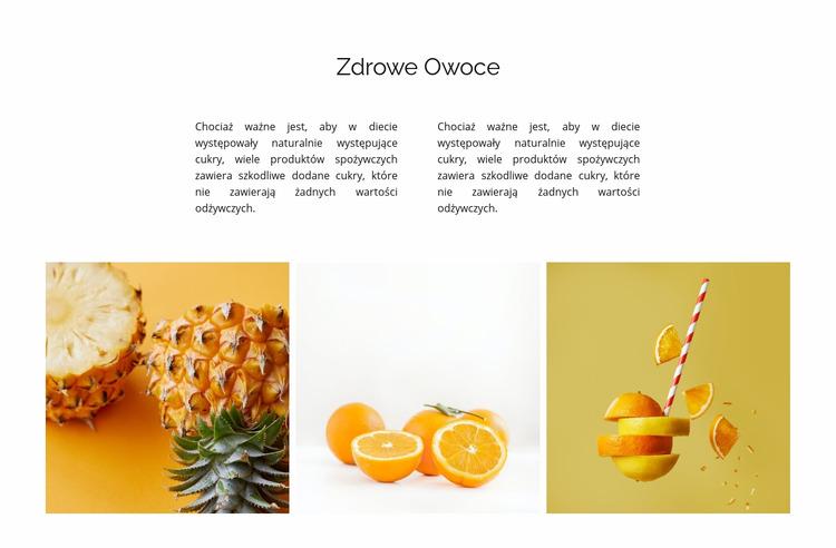 Galeria z naturalną żywnością Szablon Joomla