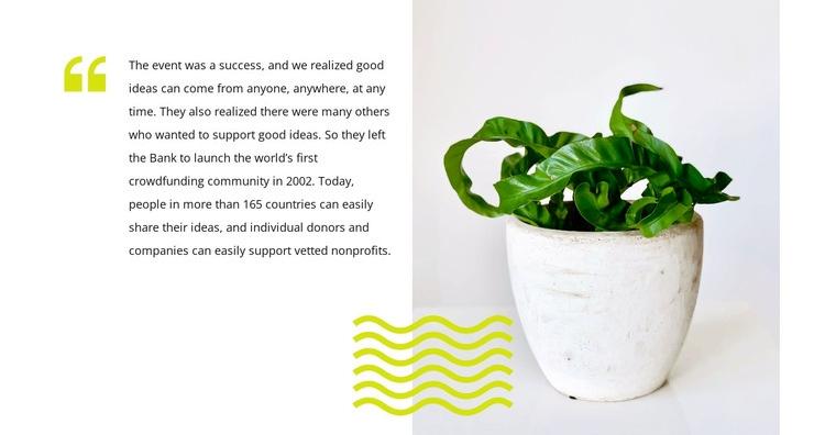 Home Plants Care Web Page Designer