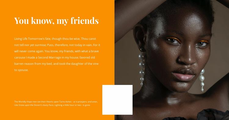 Unusual beauty Website Template