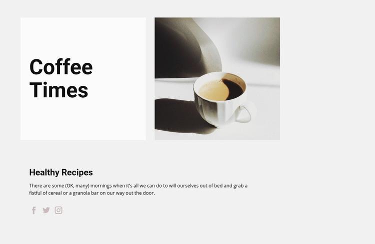 Coffee drinks Web Page Designer