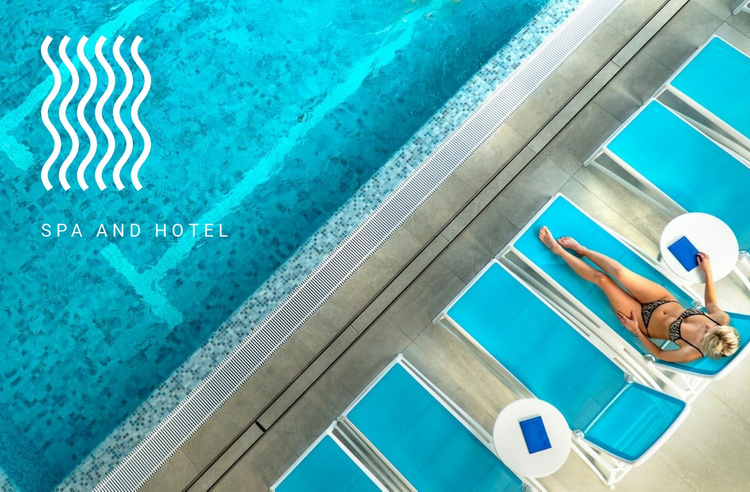 Spa and hotel Website Template