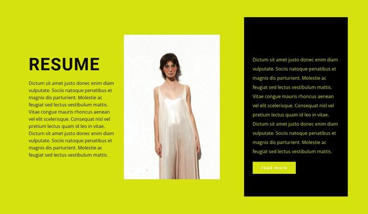 Aspiring clothing designer Website Template