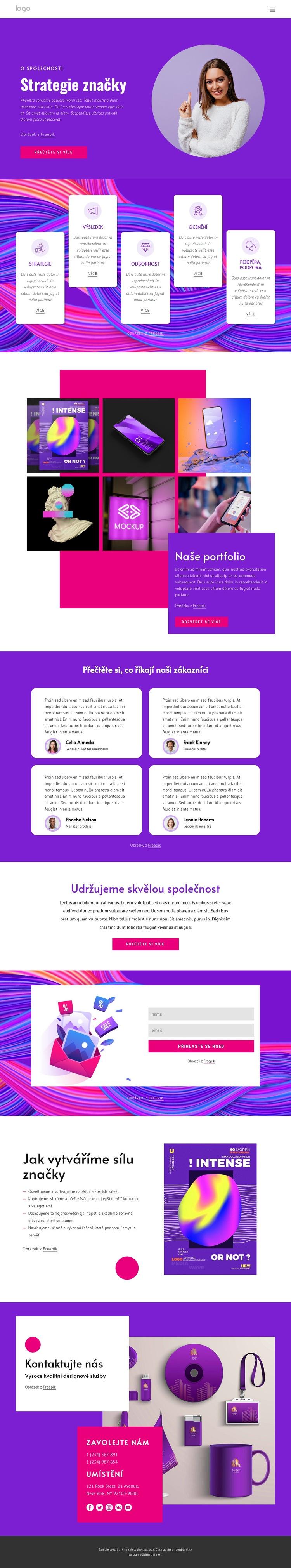 Agentura pro strategii značky Šablona webové stránky