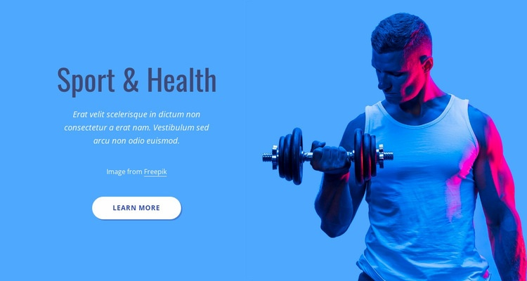Sport and health Html Code Example