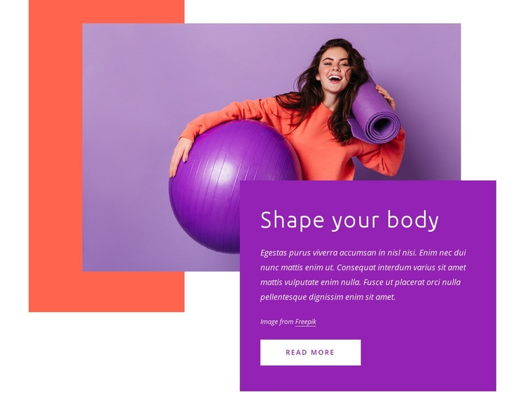 Shape your body Html Code Example