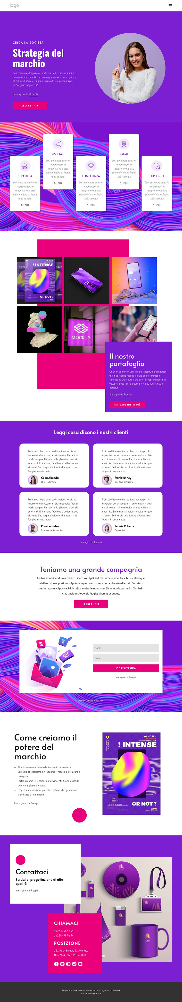 Agenzia di strategia del marchio Modello di sito Web