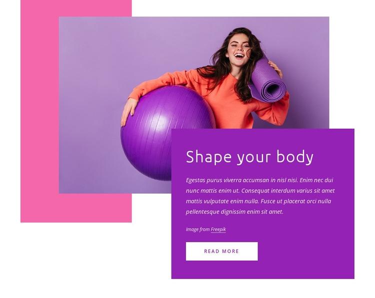 Shape your body Web Page Designer