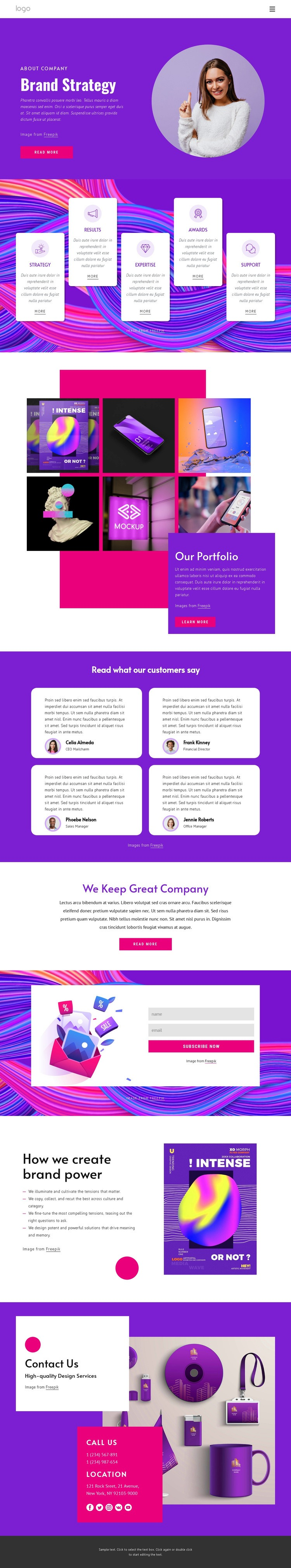 Brand strategy agency Web Page Designer