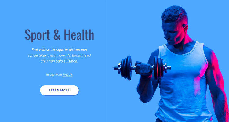 Sport and health Website Template