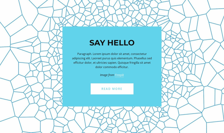 Say hello Website Template