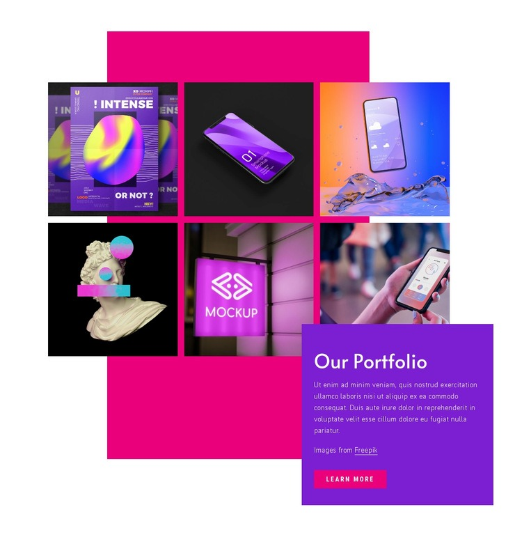 Our creative works Web Page Designer