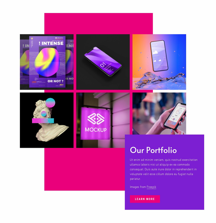 Our creative works Website Template