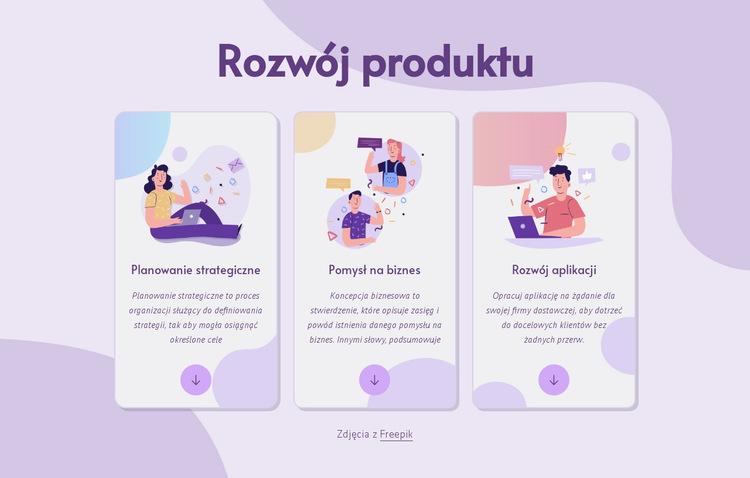 Rozwój produktu Szablon witryny sieci Web