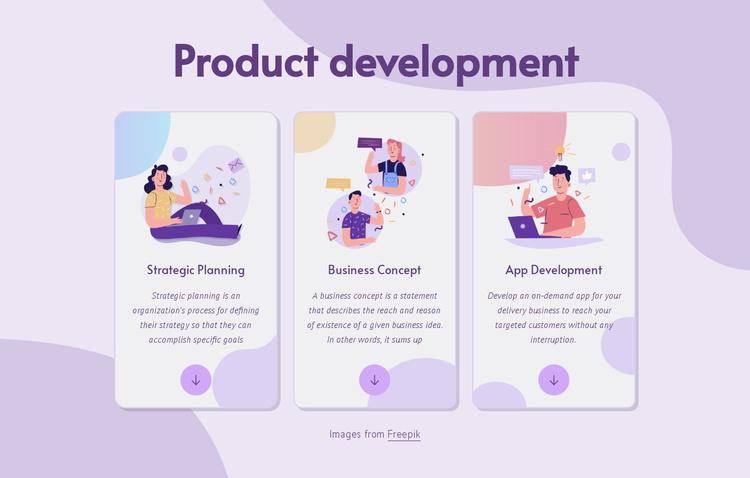 Product development Landing Page